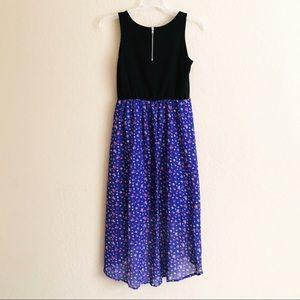 Xhilaration Dresses - Pleather Bodice Floral High Low Dress